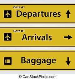空港, サイン