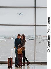 空港, 包含, 親, 最愛の人, 息子