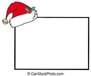 空白のサイン, サンタ, 帽子