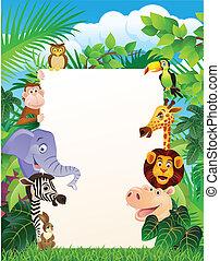 空白のサイン, 動物, 野生