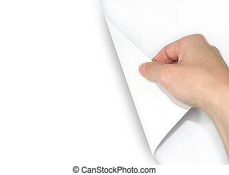 空白のページ, 回転