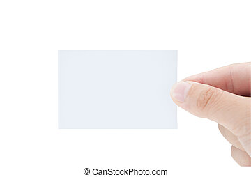 空白の名刺, 中に, 手