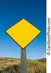 空白, 交通, 黄色的征候