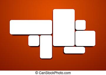 空白, 圖像, 上, the, 紅色的牆