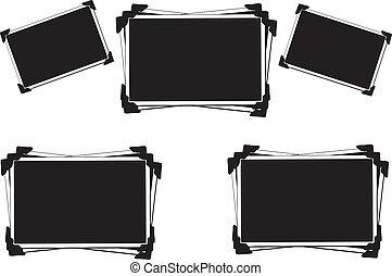 空白, 圖片, 由于, 相片, 角落