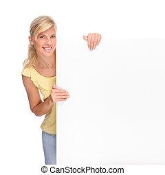 空白, 妇女, 签署