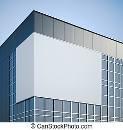 空白, 廣告欄, 暫停執行在上, the, 現代, 辦公樓