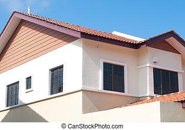 空白, 房地產 標誌, &, 新的家