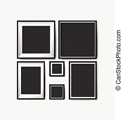 空白, 畫框架, 樣板, 集合