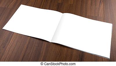空白, 目錄, 雜志, 嘲弄, 向上, 上, 木頭, backgroun