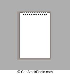 空白, 筆記本