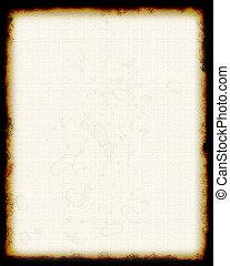 空白, 羊皮纸