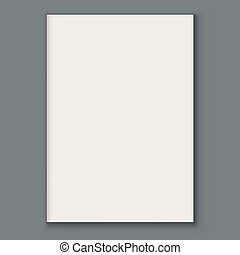 空白, 雜志, 或者, 目錄, 頁, 前面