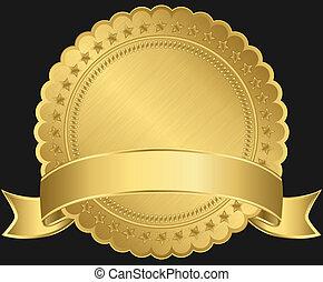 空白, 黃金,  ribb, 標簽