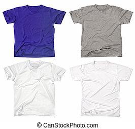 空白, t襯衫, 2