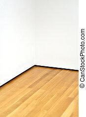空的房間, 內部, 角落, 由于, 白色, 牆壁