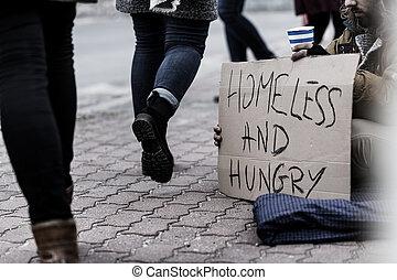 空腹, ホームレスである, 貧乏人