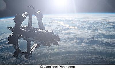 空間站, 軌道, 地球