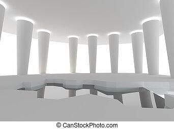 空間, 內部, 建設