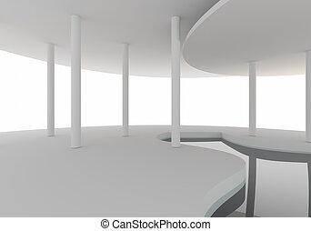空間, 內部, 曲線, 建設