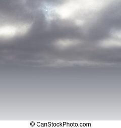 空間, 正文, 天空, 背景, 陰森, 你