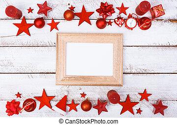 空间, 装饰品, 桌子, 白色, 复制, 边界, 圣诞节