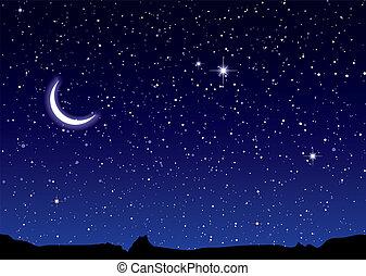 空间, 风景, 月亮