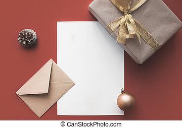 空, カード, プレゼント, クリスマス