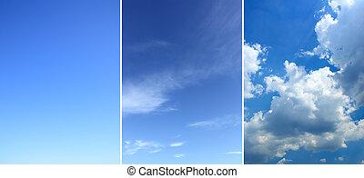 空, セット, 背景