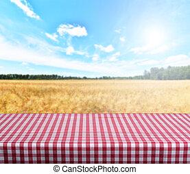 空, テーブル