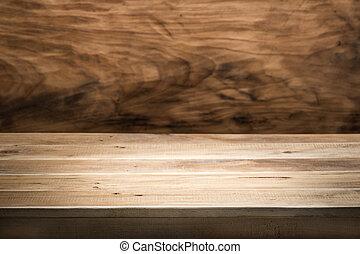 空, テーブル, 木製である