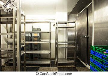空, レストラン, 台所, 貯蔵 部屋, ステンレス・スチール