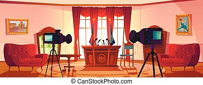 空, 交渉, 部屋, 会議, 大統領