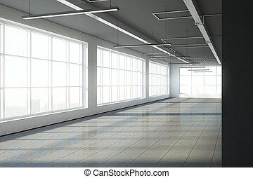 空, 倉庫, 內部