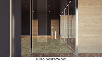 空, 内部, の, オフィス, space., 3d, レンダリング