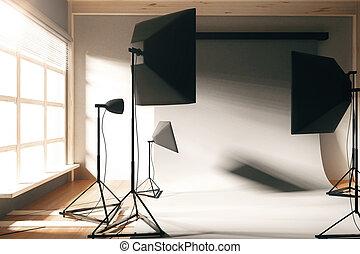 空, 写真の スタジオ, ∥で∥, 白い背景, ∥において∥, 日の出