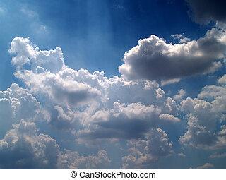 空, 別, セット, 雲, カラフルである