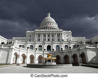 空, 国会議事堂, 私達, 雷