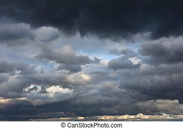 空, 嵐である