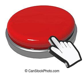空, 押しボタン, 手, ポインター