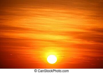 空, 日の出