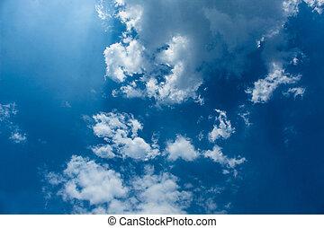 空, 暑い, 雲