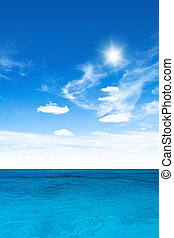空, 曇り, 海洋