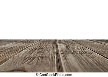 空, 木製のテーブル, 上