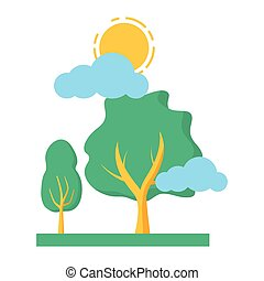 空, 木, 自然