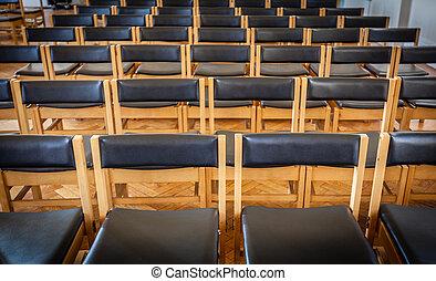 空, 椅子, 中に, ∥, 教会