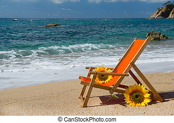空, 浜の 椅子