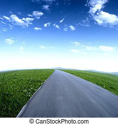 空, 瀝青柏油路