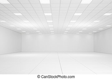 空, 白い部屋