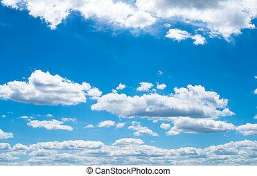 空, 白, 青, 雲